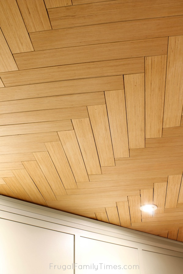 finishing herringbone ceiling