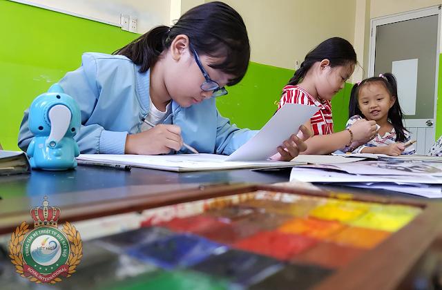 Lớp học vẽ cho thiếu nhi tại quận Bình Thạnh TP Hồ Chí Minh