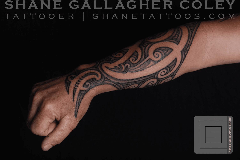 Maori Forearm Tattoo, Ta Moko