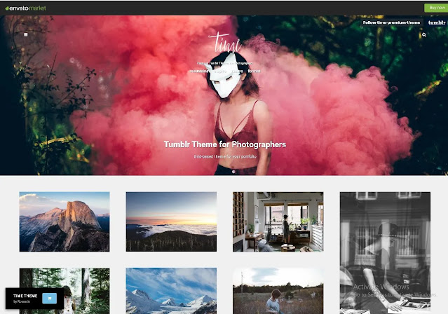Time | Photography Grid Tumblr Theme Free Download – ThemeForest