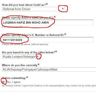 how to register grabcar malaysia