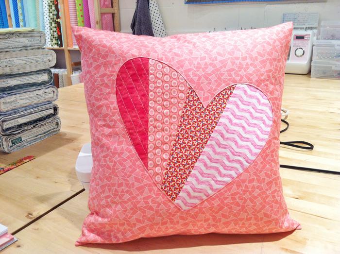 Patchwork Heart Pillow Tutorial