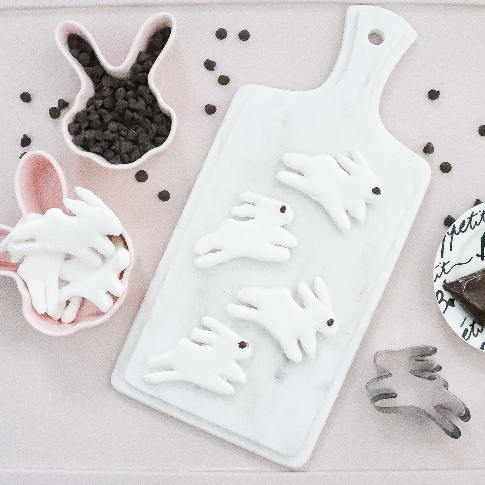 homemade bunny marshmallows