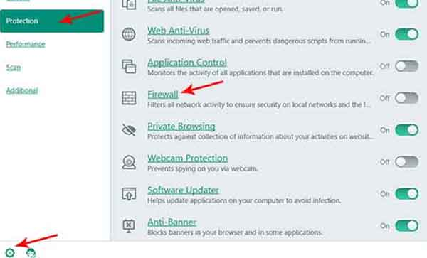 menonatkfikan firewall untuk mengatasi mozilla tidak bisa internetan