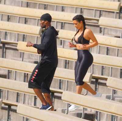 6 - Kim Kardashian undergoes grueling workout with personal trainer in LA Stadium to tone her body