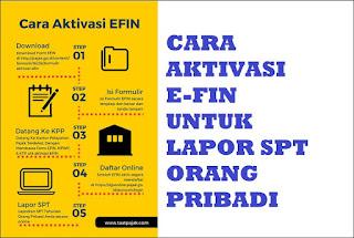 Cara Daftar dan Aktivasi  EFIN untuk Lapor SPT Pajak Online