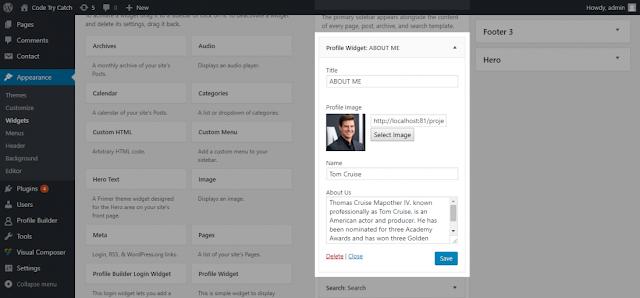 Add custom Widget to wordpress admin widget interface