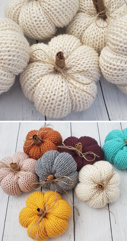 Mini Knit Pumpkins - Free Pattern