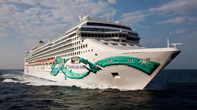 Nowegian Cruise Line's Norwegian Jade Transatlantic Cruise Ends in New York after visting Mediterrenean ports