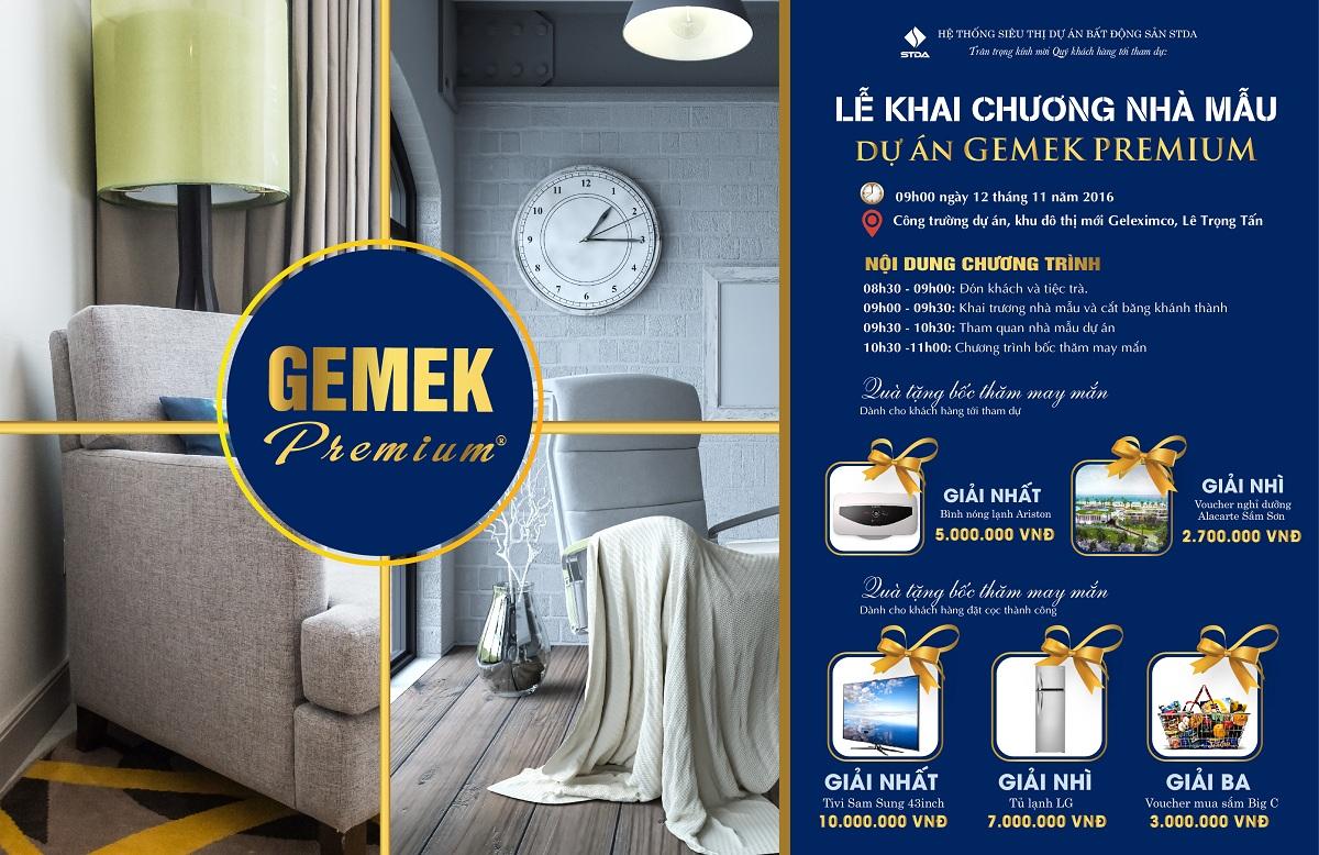 Thư mời dự lễ khai trương nhà mẫu Gemek Premium