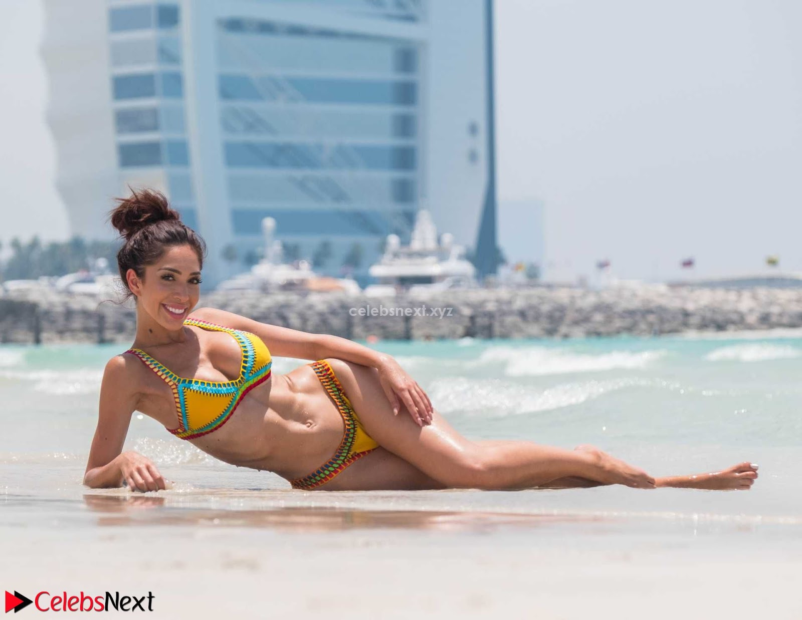 Farrah Abraham in Bikini on a Beach in Dubai Sexy Ass Hot Cleavages May 2018  ~ CelebsNext.xyz Exclusive Celebrity Pics