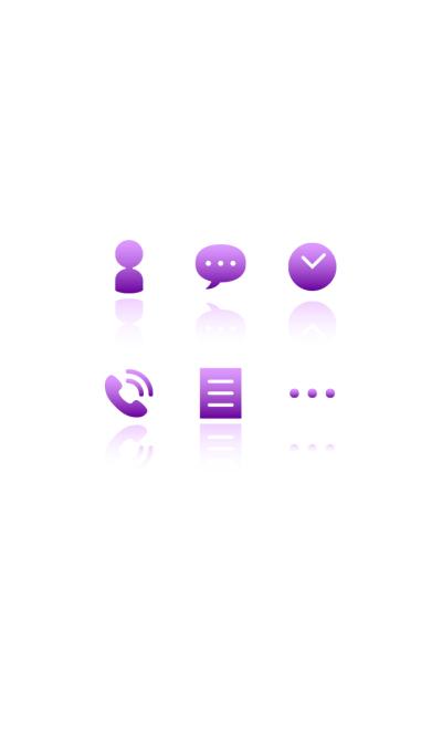 Gradation color icon2(purple)