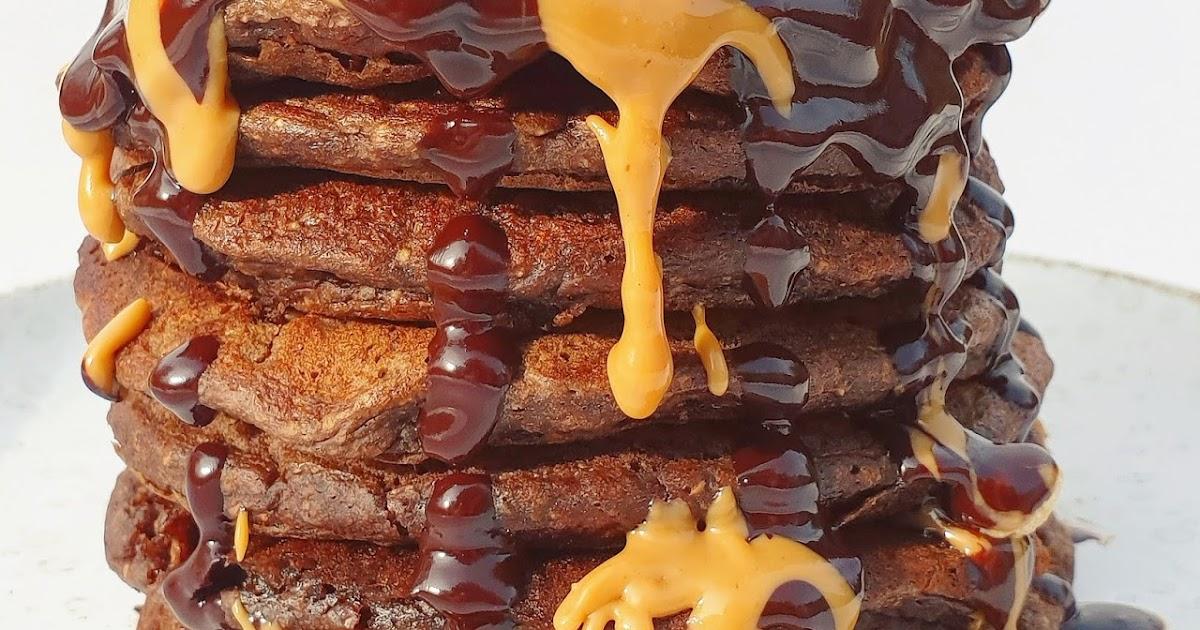PANCAKES CHOCOLAT au yaourt (VEGAN - SANS GLUTEN)
