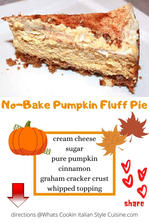pin for later no bake pumpkin fluff pie