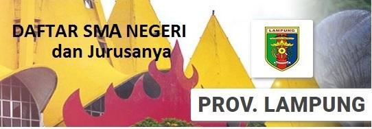 Daftar SMA Negeri di Provinsi Lampung beserta alamatnya