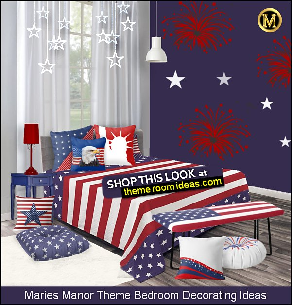 patriotic bedroom decor americana decor stars and stripes bedroom decorating ideas
