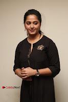Actress Anushka Shetty Stills in Black Gurthi at Baahubali 2 Press Meet  0012.jpg