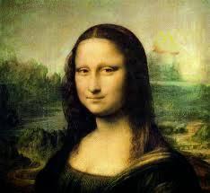 A foto mostra o quadro de arte a Moraliza de Leonardo Vinci. Mona Lisa é um óleo sobre madeira pintado pelo renascentista italiano Leonardo da Vinci entre os anos 1503 e 1506.
