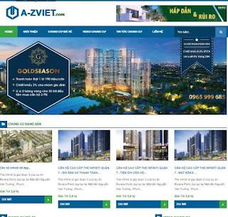 Giao diện Web Bất động sản bán Căn hộ - Theme Blogspot - Blogspotdep.com