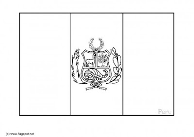 Dibujos para colorear Independencia de Perú