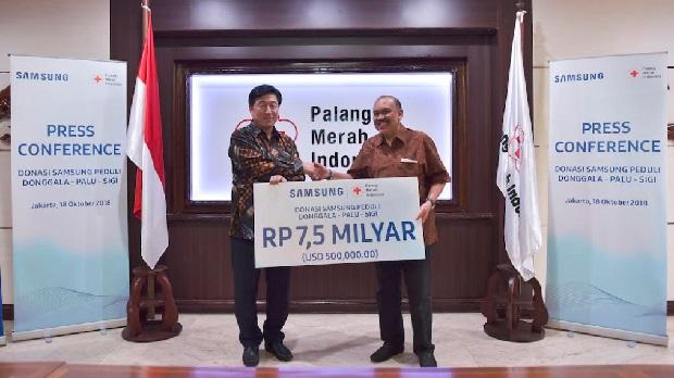 Samsung Serahkan Total Rp 9 Milyar Untuk Bantu Sulawesi Tengah