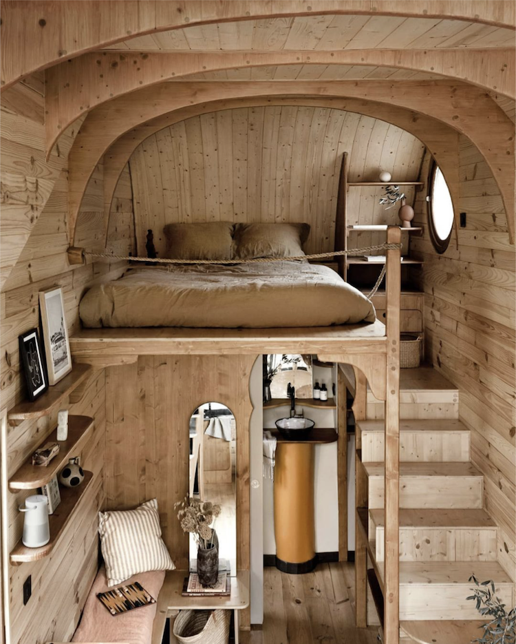 A Beautifully Crafted Tiny House On Wheels