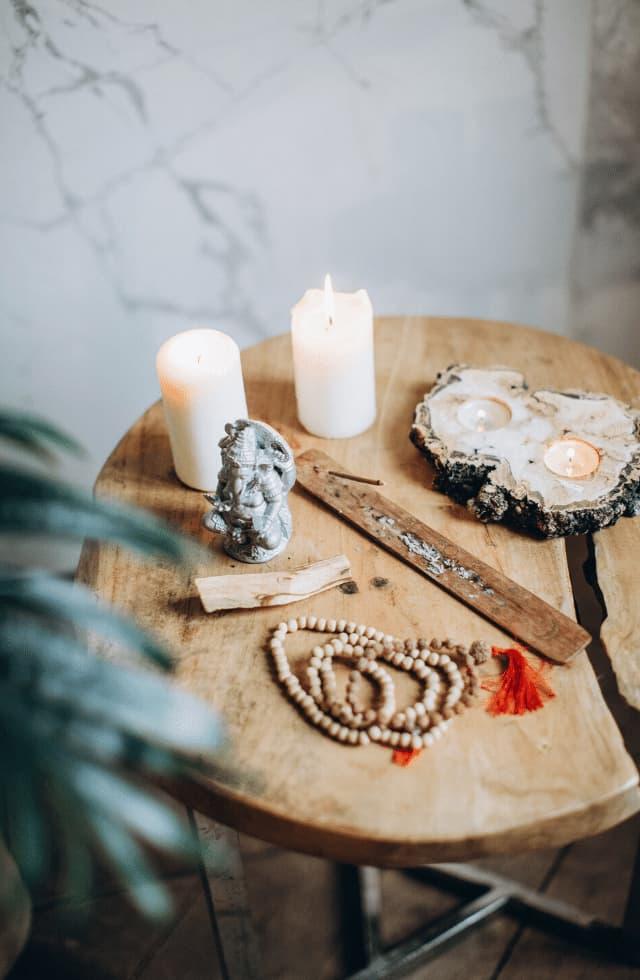 altar da purificação , meditação e energização