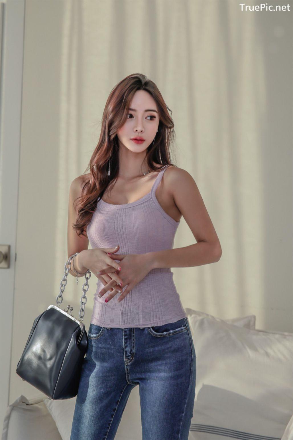 Image-Korean-Fashion-Model-Kim-Bo-Ram-Jeans-Set-Collection-TruePic.net- Picture-8