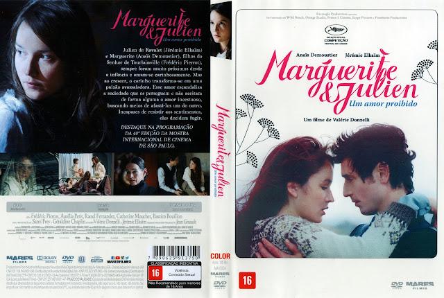 Capa DVD Marguerite e Julien Um Amor Proibido