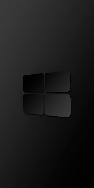 HD Wallpaper Windows 10 Darkness Logo