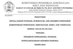 PROSEDUR OPERASIONAL STANDAR (POS) PENYELENGGARAAN ASESMEN NASIONAL (AN) TAHUN 2021