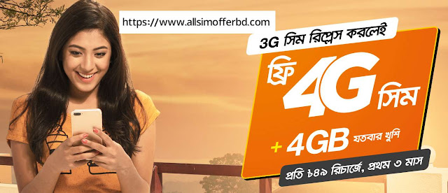 Banglalink 4G SIM Replacement  Offer
