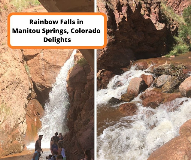 Short Hike to Rainbow Falls in Manitou Springs Delights as a Water Veil Tumbles Over Bronze Rocks
