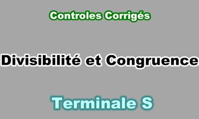 Controles Corrigés de Divisibilité et Congruences Terminale S PDF