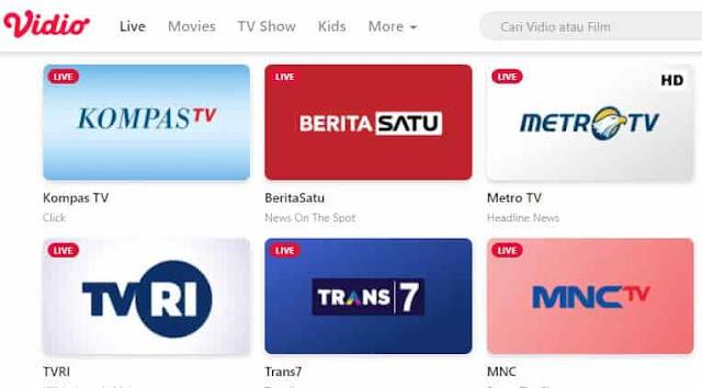 cara nonton tv di hp android secara gratis di video com