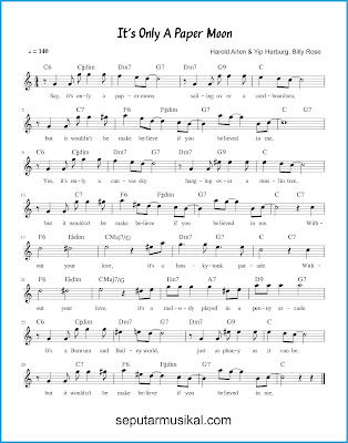 It's Only a Paper Moon chords jazz standar