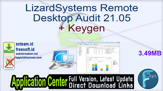 LizardSystems Remote Desktop Audit 21.05 + Keygen_ ZcTeam.id