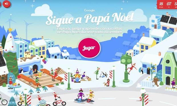 Google Maps te muestra el recorrido de Papá Noel para navidad