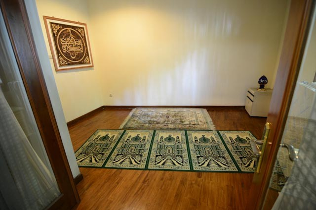 design of the small mosque within the home