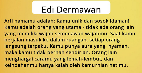 Arti Nama Edi Dermawan