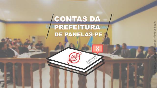CONTAS DA PREFEITURA DE PANELAS-PE REJEITADAS