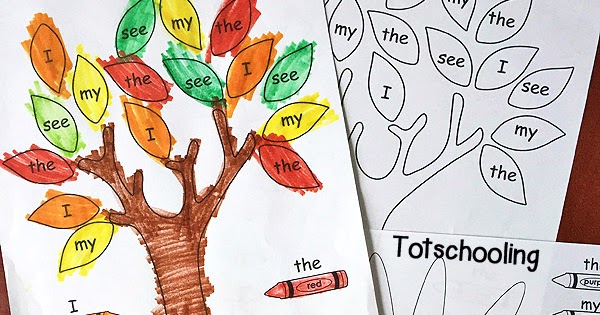 Fall Color By Sight Word Totschooling Toddler