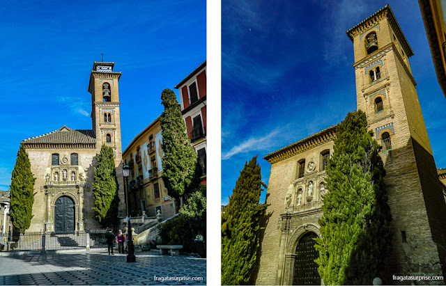 Igreja de Santa Ana, na Carrera del Darro, em Granada