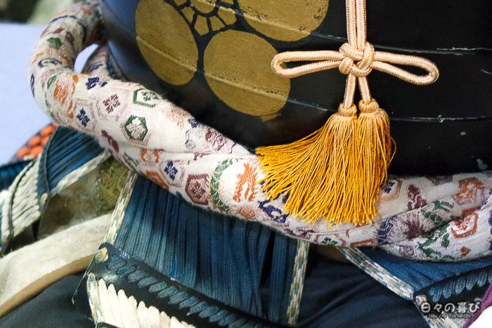 ceinture brodee armure samourai détail