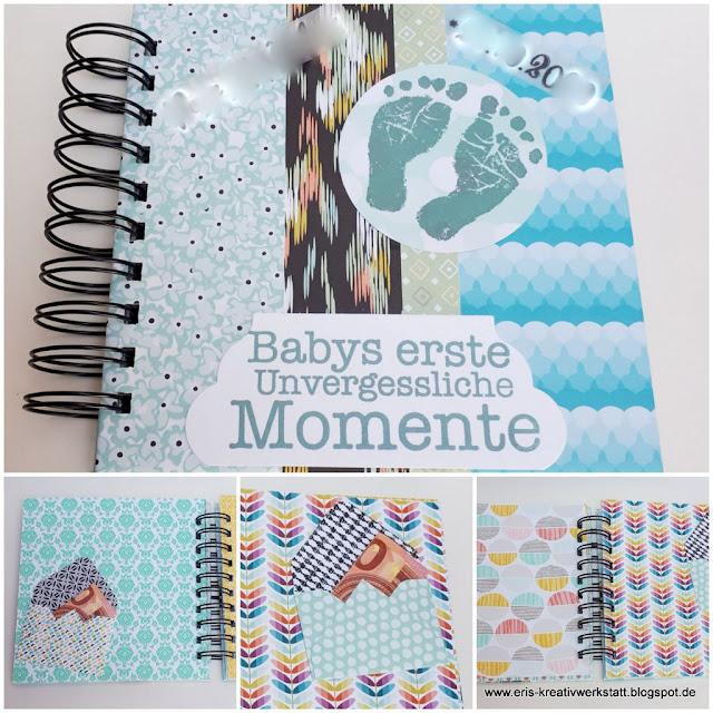 Babyalbum als Geldgeschenk für einen Jungen Stampin' Up! www.eris-kreativwerkstatt.blogspot.de