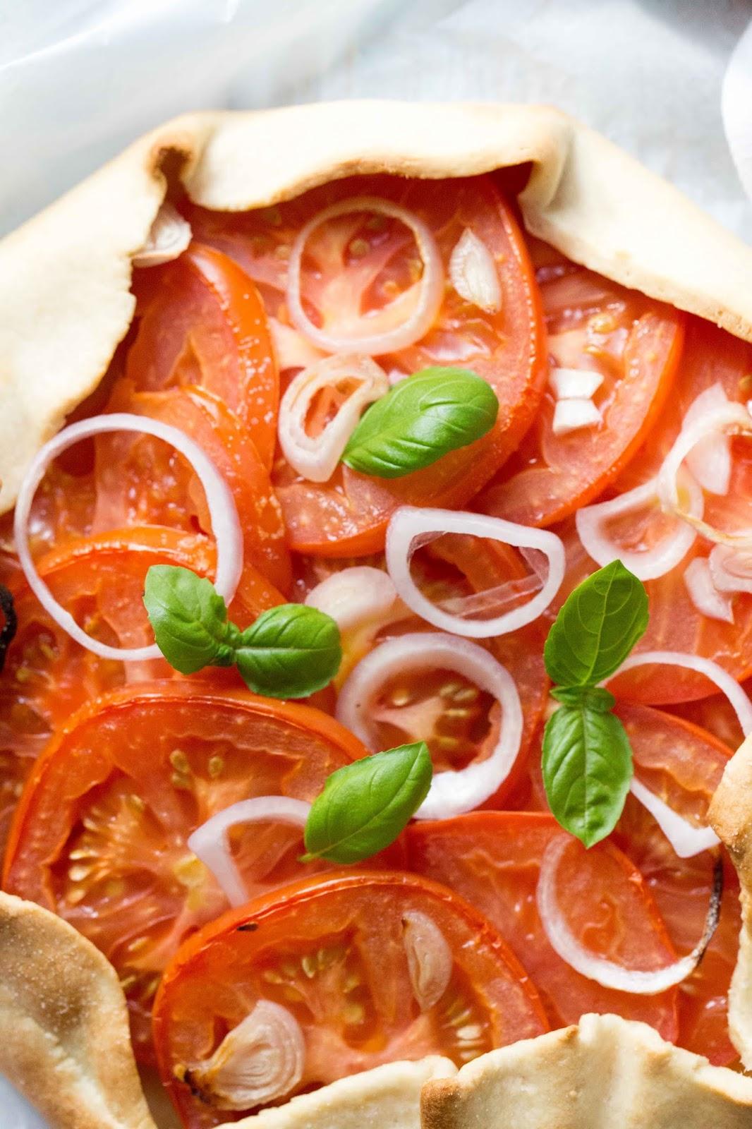 Receta facil de galette de tomates