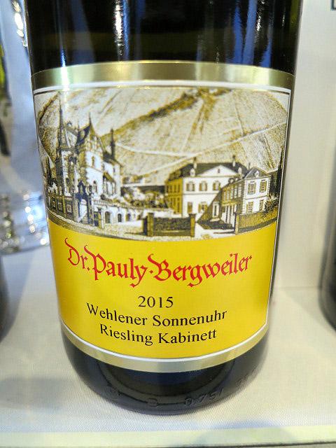 Dr. Pauly-Bergweiler Wehlener Sonnenuhr Riesling Kabinett 2015 (90 pts)