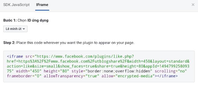Hướng dẫn thêm Plugin Like và Share Facebook vào Blogspot/Website