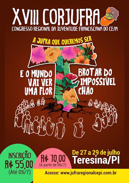 JUFRA CE/PI LANÇA CARTA DE CONVOCAÇÃO XVIII CONGRESSO REGIONAL ORDINÁRIO/ELETIVO DA JUFRA CE/PI