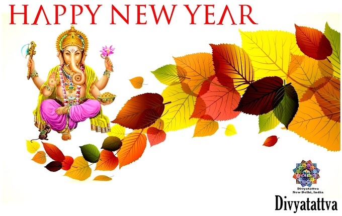 Happy New Year HD Wallpapers Free Background Decoration With Ganesha Image